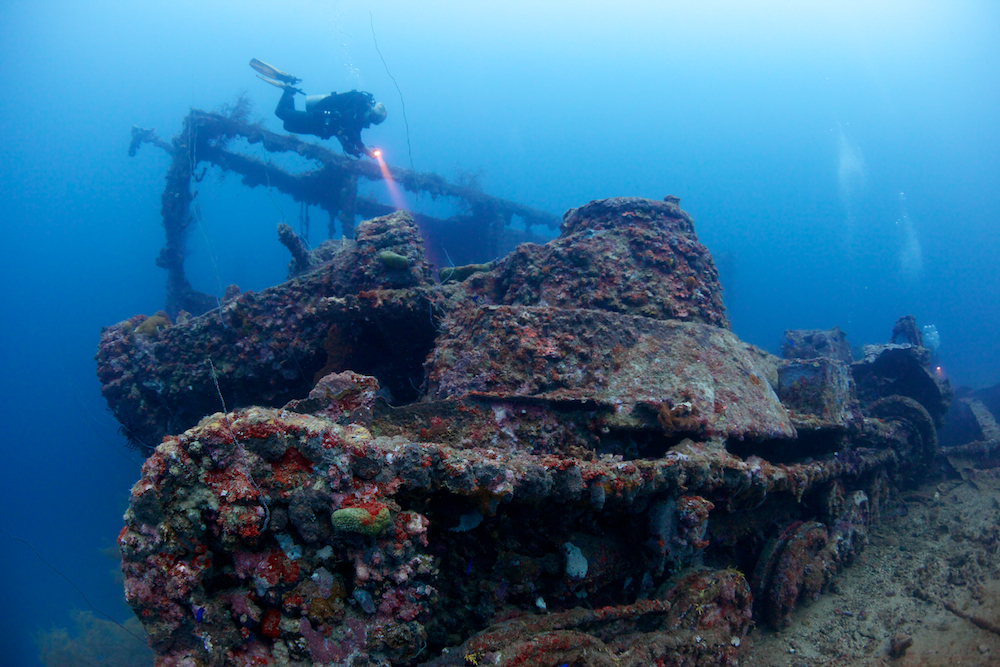 """The million dollar wreck"" San Fransisco Maru in Chuuk Lagoon © Henrik Jonsson"